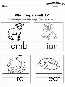 letter l sound worksheets 24492 color the pictures beginning letter sounds
