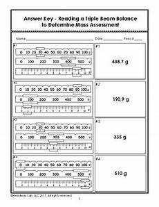 reading triple beam balance practice worksheet bluegreenish