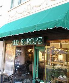 asheville nc europe coffe shop window downtown