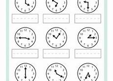 time on the hour worksheets for kindergarten 3611 kindergarten time worksheets free printables education