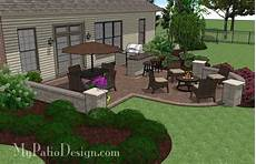 terrasse gestalten ideen creative backyard patio design with seating wall 525 sq