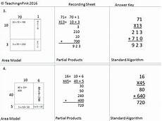 multiplication worksheets area model 4309 area model multiplication 2x2 single step word problems by teaching n pink