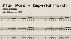 imperial march sheet music violin trio version youtube