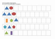 shapes worksheets year 1 1323 ks1 year 1 2 shape and colour patterns complete the sequence new differentiated