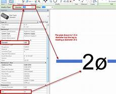 revit pipe tag is not reading the correct diameter size