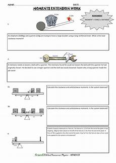 moments worksheet extension work teaching resources