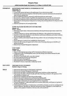 unit nurse resume sles velvet