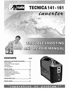 telwin tecnica 141 161 welding inverter sm service manual download schematics eeprom repair