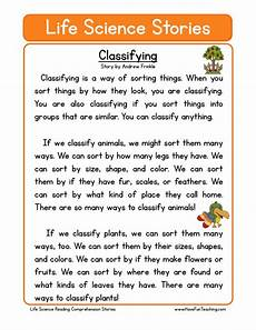 classifying plants worksheets 3rd grade 13524 reading comprehension worksheet classifying
