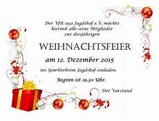 vfr jagdshof 187 weihnachtsfeier 12 12 2015