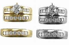 14k yellow white gold trio bridal sets his and hers wedding ring band set ebay