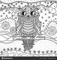 Malvorlage Eule Mandala Herunterladen Mandala Mit Eule Stockillustration