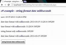 c how to format a string as a date with milliseconds