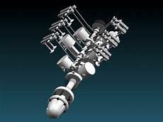 Bauplan 6 Zylinder V Motor 100 Ccm Cnc Drehmaschinen