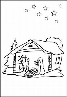 ausmalbild weihnachtskrippe malvorlage krippe zum