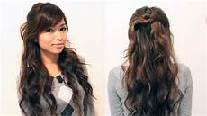easy holiday curly half updo hairstyle for medium