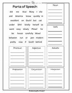parts of speech worksheet lengua parts of speech worksheets part of speech grammar parts