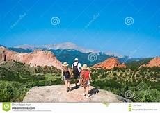 family hiking vacation trip in colorado stock image image of family trail 113173905