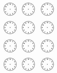 blank clock faces for picture schedule teaching