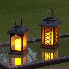 Solar Flickering Candle Lantern Led 2 Pack