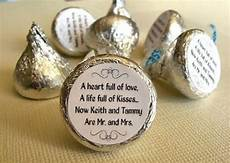 wedding wish in hershey kisses favors wedding