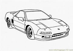 Car Coloring Page  Free Vehicle Transport Pages