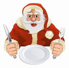 santa claus seated for dinner