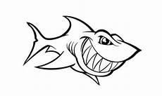 Cara Buat Sketsa Gambar Ikan Hiu Siap Diwarnai 5 Contohnya