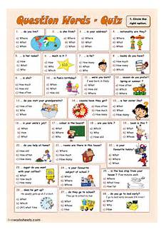 worksheets question words 18435 question words exercise and pdf
