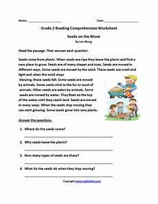 seeds on move second grade reading worksheets reading comprehension worksheets 2nd grade