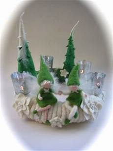 adventskranz gefilzt elfe fee filz filz auf