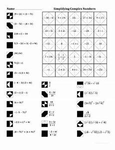 complex color by number worksheets 16108 simplifying complex numbers color worksheet by aric tpt