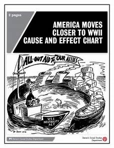 Ww2 Cause And Effect Chart America Moves Closer To Wwii Cause And Effect Chart Tpt