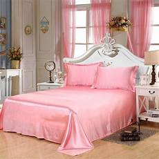 home textiles high quality luxury satin bed sheet king queen size silk flat sheets bedding