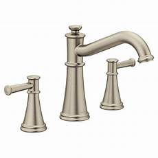 moen kitchen faucets brushed nickel moen belfield 2 handle deck mount tub faucet in brushed nickel valve not included
