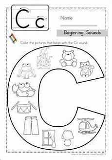 letter c worksheets for toddlers 23042 beginning sounds color it escritura de oraciones actividades en clase y primeros grados
