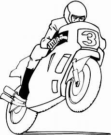 motorradfahrer ausmalbild malvorlage comics