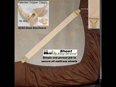 usa made patented fitted sheet corner straps keep your bed sheets in place youtube