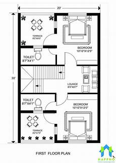 20x30 house plans floor plan for 20 x 30 feet plot 3 bhk 600 square feet