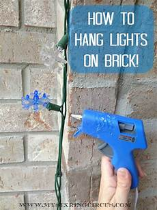 attach light to brick wall hanging lights brick now super easy christmas hanging decorations hanging christmas