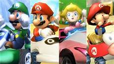Mario Kart Wii All Characters Winning Animations