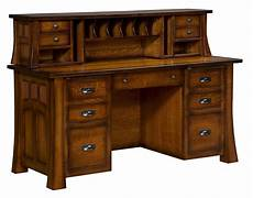 wooden home office furniture amish computer desk hutch topper solid wood home office