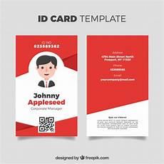 id card template gratis id card template vector free