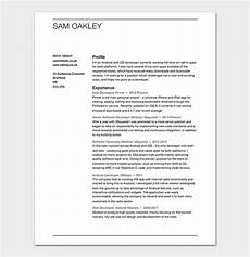 fresher resume template 50 free sles exles