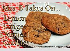 ginger lemon oatmeal cookies_image