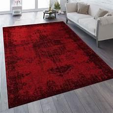 vintage teppich verwaschene optik rot teppichcenter24