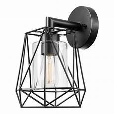 globe electric sansa 1 light black outdoor indoor wall sconce 44300 the home depot