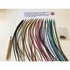 plume de cheveux extensions de plumes pour cheveux kit de salon de coiffure