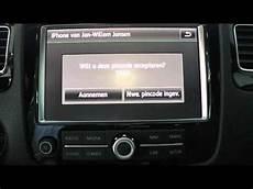 volkswagen touareg telefoon bluetooth rns 810