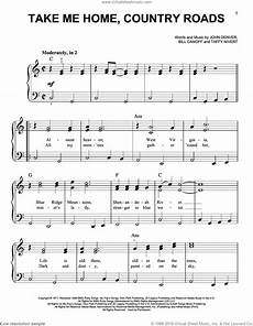 denver take me home country roads sheet music for piano solo